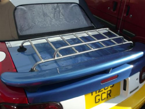 Boot / luggage rack, s/s low profile, narrow fit, with fitting kit